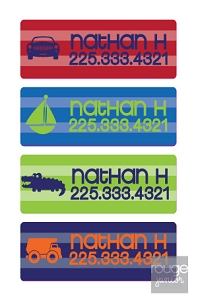 stripe - mini waterproof labels - set of 72