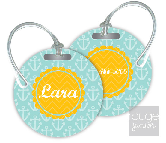 anchors luggage tags - set of 2