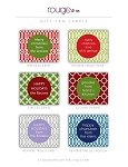rouge & co. {holiday} gift tag labels - set of 24