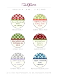 rouge & co. {holiday} round labels - set of 30