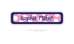 Sailor {pink} waterproof name labels