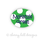 Mini Sailor {green} waterproof name labels