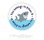 Shark round labels