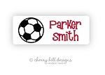 Soccer iron on name labels