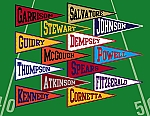 Spirit Stickers - pennant name labels in your team colors