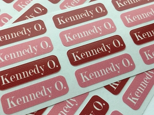 CHERRY tiny name labels - set of 64