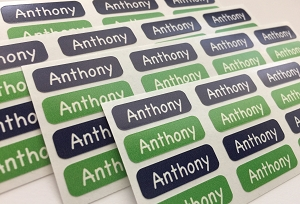 DOG tiny name labels - set of 64