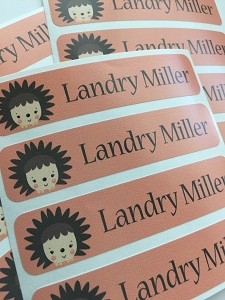 HEDGEHOG waterproof name labels