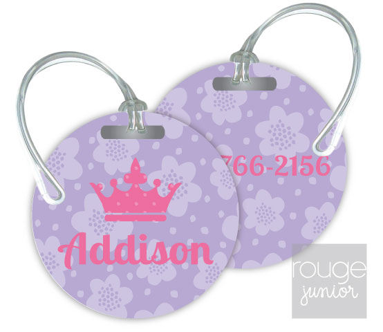 flowers luggage tags - set of 2
