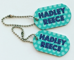 polka dot mini tags - set of 2