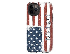 American Flag Personalized iPhone Case