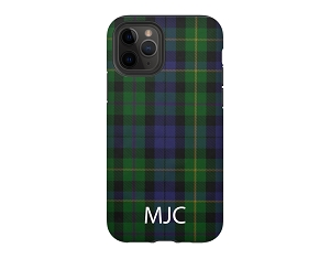 Blue Tartan Plaid Personalized iPhone Case