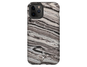 Textured Marble Personalized iPhone Case