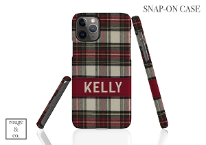 Flannel Plaid Personalized iPhone Case