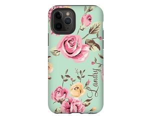 Green Floral Personalized iPhone Case