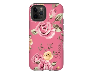 Pink Floral Personalized iPhone Case