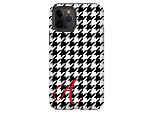 Houndstooth Personalized iPhone Case
