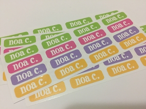 [super star] waterproof tiny name labels - set of 64