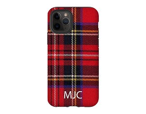 Red Tartan Plaid Personalized iPhone Case