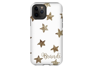 Glitter Stars Personalized iPhone Case