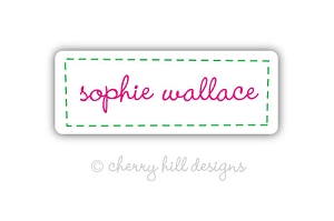 Stitched In {pink} iron on name labels