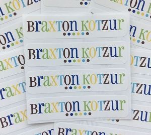 Good Cheer [blue] waterproof name labels