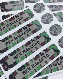 Cool camo - waterproof name labels value combo - set of 24