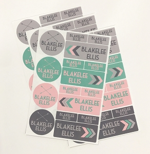 TAKE FLIGHT pink - waterproof label combo - set of 64