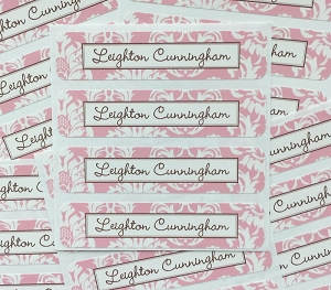 Calais [pink] waterproof name labels