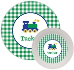 Train melamine dinnerware set