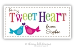 Valentine Birds jumbo labels - set of 20