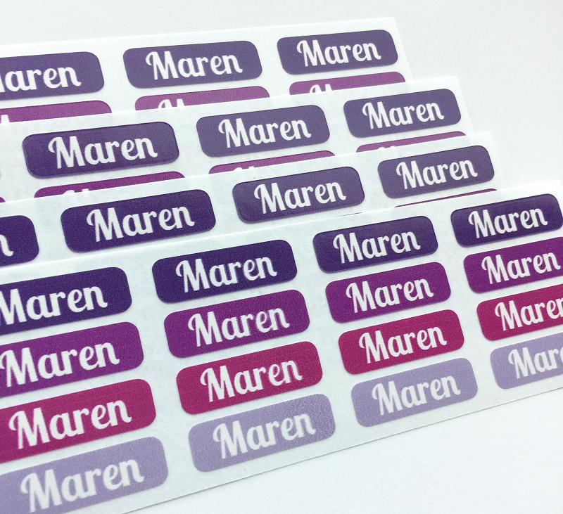 [totes purple] waterproof tiny name labels - set of 64