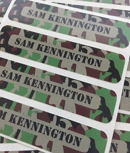 Cool Camo [brown] waterproof name labels
