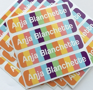 Candy - large waterproof name labels - set of 24