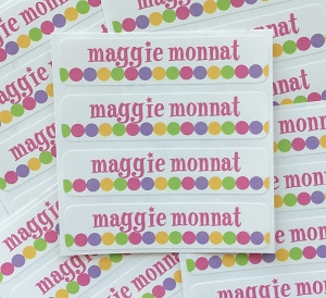 DOT DOT DOT {super star} waterproof name labels
