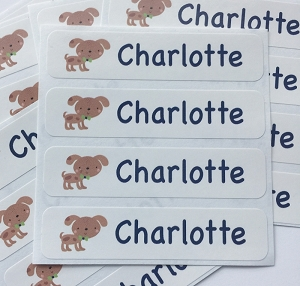 DOG waterproof name labels