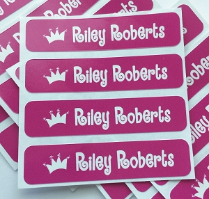Princess - large waterproof name labels - set of 24