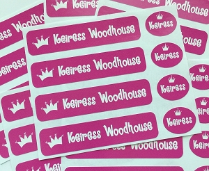 Princess - waterproof name labels value combo - set of 24