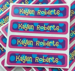 Sailor {bright} waterproof name labels