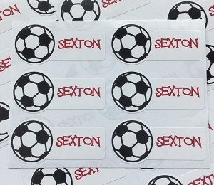 Soccer Ball waterproof name labels