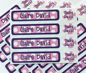 Sailor pink - waterproof name labels value combo - set of 24