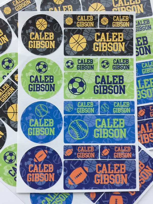 all-star - waterproof name label combo - set of 64