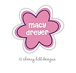 Blossom waterproof name labels