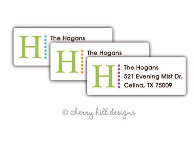 Lime Monogram small labels
