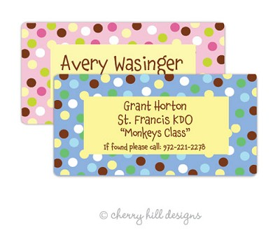 Carnival jumbo labels {pink or blue}