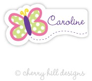 Butterfly mini die cut name labels - set of 26