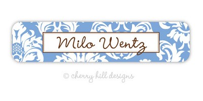 Calais {blue} waterproof name labels
