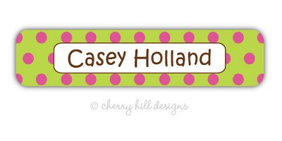 Confetti [lime/pink] waterproof name labels