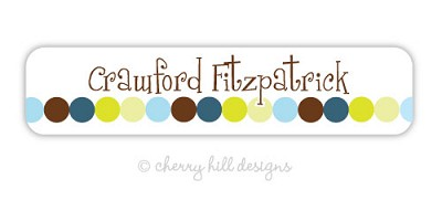 Dot Dot Dot {blue} waterproof name labels