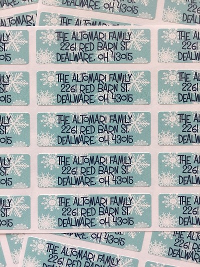 Snowflakes [holiday] return address labels